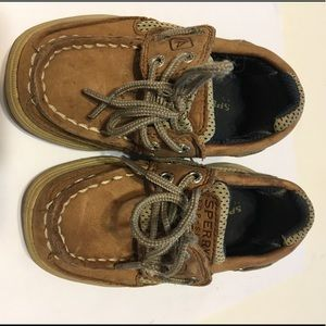Sperry top siders Velcro kids 6 m brown boat shoes